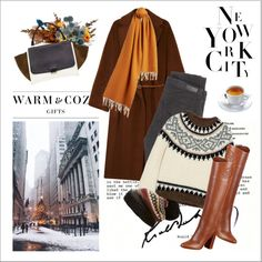 Christmas in New York by amaryllis on Polyvore featuring polyvore, fashion, style, J.Crew, Gérard Darel, AG Adriano Goldschmied, GUESS, CÉLINE, Burberry and Free People