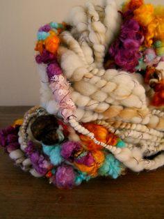 Bobbles the Art Yarn or Eternity Scarf. $72.00, via Etsy.