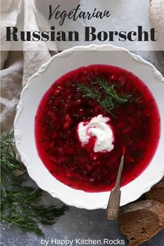 Low Unwanted Fat Cooking For Weightloss This Easy One-Pot Vegetarian Russian Borscht Recipe Only Takes 30 Minutes To Make Delicious And Wholesome Winter Soup Full Of Nutrients Happykitchen. Beet Borscht, Beet Soup, One Pot Vegetarian, Vegetarian Recipes, Curry Recipes, Russian Borscht Soup, Healthy Vegetarian Recipes, Food Recipes, Vegans