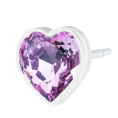 Blomdahl MP Heart 6mm Light Amethyst B