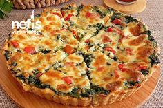 Tadına Doyum Olmaz Ispanaklı Kiş Tarifi Quiche, Tart, Food And Drink, Pizza, Breakfast, Food Food, Morning Coffee, Pie