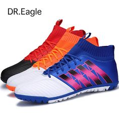 Dr.eagle Men football sock boots crampons flying weaving Football Shoes with ankle futsal ball training soccer boots wholesale (32758921674)  SEE MORE  #SuperDeals