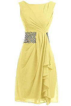 Sunvary Simple Short Chiffon Prom Dress Slim-Line Party D...