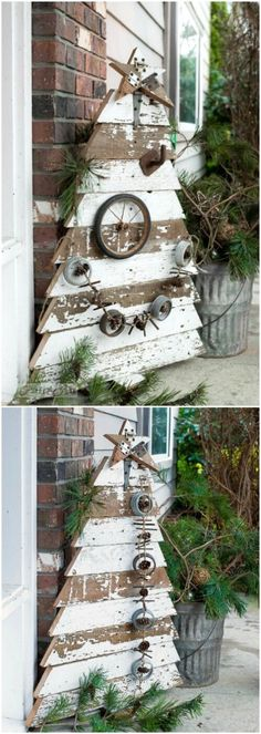 shabby holz bretter f r weihnachtsb ume weihnachten pinterest weihnachten weihnachtsbaum. Black Bedroom Furniture Sets. Home Design Ideas