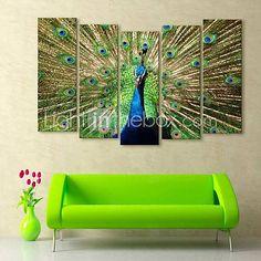 e-FOYER toile tendue art de paon peinture décorative série de cinq de 2571834 2016 à £96.59