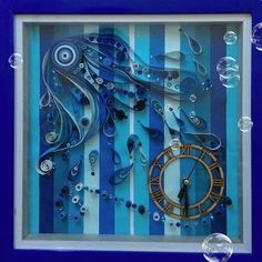 quilled#Wall Clock
