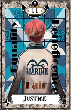 "☆ One Piece Tarot Card Art: Justice :¦: By Artist ""Igarashi"" ☆"
