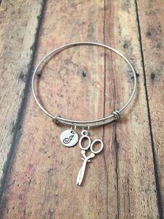 Scissors charm bracelet  scissors jewelry gift for by kimsjewelry