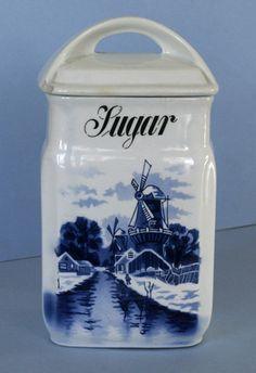 Delft Holland Blue Sugar Canistar Lid Inge C A w Germany P | eBay