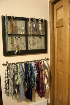 Easy Hanging Scarf Organization - One Hour & $20 - The Small Stuff Counts Blog