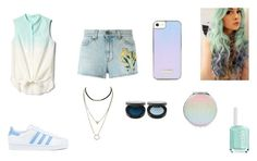 """""""Untitled #82"""" by xolafkax on Polyvore featuring Gap, Gucci, adidas and Essie"""
