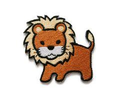 lion Embroidered Applique Iron on Patch