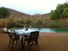 Private pool-side dining, Sher Bagh