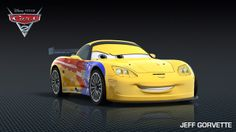 Pixar Cars Characters | New Cars 2 Character: Jeff Gorvette