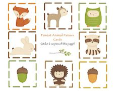 Free printables- Woodland animals Great template for party decorations