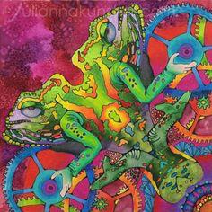Mandala mixed media