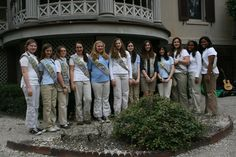 Girl Scouts visiting the Juliette Gordon low Birthplace and LOVING Savannah
