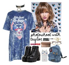 """""""Photoshoot with Taylor Swift"""" by cheryl11132 ❤ liked on Polyvore featuring Boohoo, Valfré, Lime Crime, Urban Decay, NARS Cosmetics, Garrett Leight and Stefanie Sheehan Jewelry"""