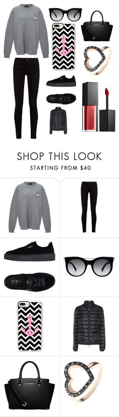 """Sans titre #4260"" by merveille67120 ❤ liked on Polyvore featuring Rochas, Gucci, Puma, Alexander McQueen, Casetify, Moncler, MICHAEL Michael Kors and Smashbox"