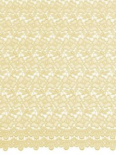 African Guipure Lace Ivory Fabric