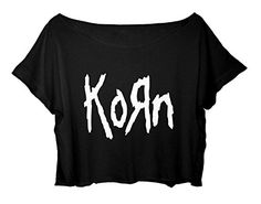 Women's Crop Tee Korn Shirt Metal Band Tee FREE SHIP