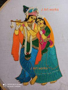Wedding Saree Blouse Designs, Saree Wedding, Thread Work, Picture Design, Tribal Art, Embroidery Designs, Lehenga Choli, Art Designs, Stitches