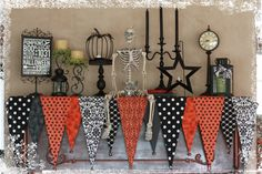 Love the idea of layering the different size triangle, cool twist on a traditional buntin. Fall and Winter–In the Same Week! Bearnson Halloween Banner – Lisa Bearnson's Blog