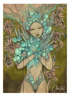 'Chrystal Soul'original illustration by Olivia Rose on A4 watercolour paper <3