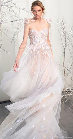 mira zwillinger bridal 2017 strapless sweetheart ball gown wedding dress (elsa)…