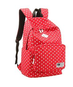 New Fashion Cute Polka Dots Children School Bags Bookbag For Girls School Bag Backpack For Travel Black White Backpack - Click image twice for more info - See a larger selection of red backpacks at http://kidsbackpackstore.com/product-category/red-backpacks/. - kids, juniors, back to school, kids fashion ideas, teens fashion ideas, school supplies, backpack, bag , teenagers girls , gift ideas, red
