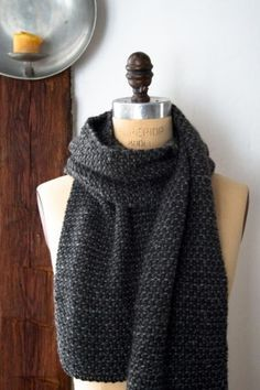 Knitting: Cobblestone Scarf | The Purl Bee - free pattern!