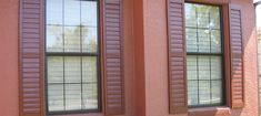 This customer went with a monochromatic look! Their interior shutters really shine through, here. Exterior Shutters, Shades Blinds, Window Treatments, Windows, Interior, Indoor, Jalousies, Window Dressings, Window