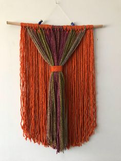 Excited to share the latest addition to my #etsy shop: Yarn wall hanging #housewares #homedecor #beads #yarn #stick