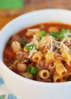 A copycat recipe of everyone's favorite Olive Garden soup: Pasta Fagioli!