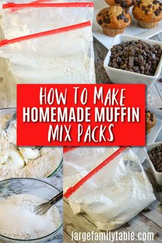 How to Make Homemade Muffin Mix Packs