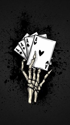 Poker Cards Skull IPhone Wallpaper - IPhone Wallpapers