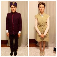 """Wes Anderson's """" The Grand Budapest Hotel"""" Lobby Boy and Agatha Costume"""