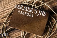 Screen printed leather label made in Italy by Panama Trimmings #denim #details…