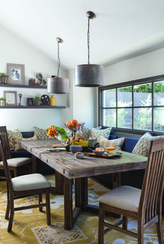 Marrying clean, architectural lines and raw, natural charm, the Ryland 7 Piece Dining Set caters to contemporary tastes that favor rustic flavors.
