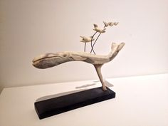 Whale - carved antler. Matt Caines 2015