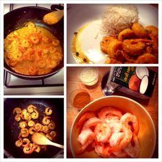 [Recette] Crevettes curry et lait de coco
