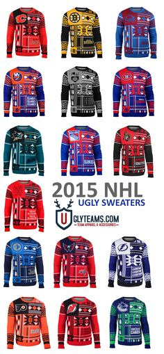 2105 NHL Ugly Sweaters from Uglyteams Hockey Girls 54e477170
