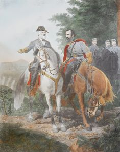 Vintage engraving, ROBERT E. LEE AND STONEWALL JACKSON  THE LAST MEETING Stonewall Jackson, Contemporary Artwork, Princess Zelda, Paintings, Paper, Fictional Characters, Vintage, Paint, Contemporary Art