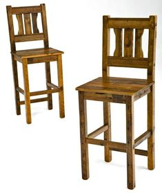 Barn Wood Bar Stool In Distressed Gray Placed At The End