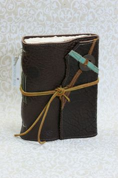 love!! Miracle Tracker Leather Journal with Handmade Cotton by bindingbee, $120.00