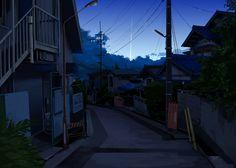 Night Neighborhood Houses
