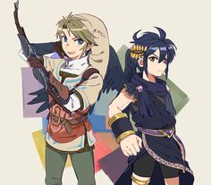 SS outfit Link & Dark Pit (Smash Bros)