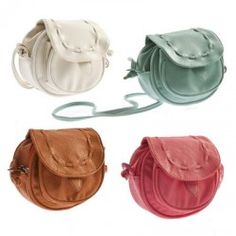 New Cute Girl PU Leather Mini Small Adjustable Shoulder Bag Handbag Pouch Hook