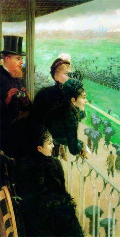 Скачки в Отейё 1881 масло, холст The Races at Auteuil Galleria Nazionale d'Arte Moderna Giuseppe De Nittis