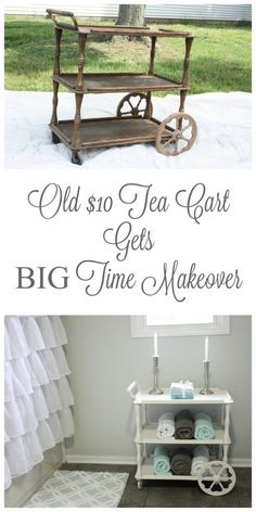 This $10 find (with a story all its own) gets an amazing makeover with a little TLC and the perfect spot in the Master Bathroom!